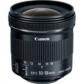 Lente Canon EFS 10 18mm IS STM